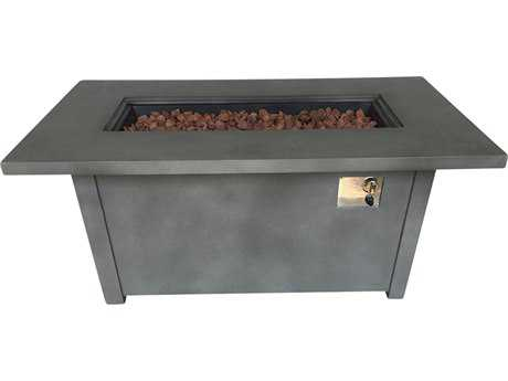 Teva GRC Torch 54.1 x 28.1 Rectangular Concrete Firepit Table