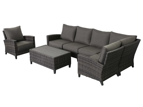 Teva Barbados 5 Piece Sectional Set with Club Chair