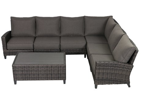 Teva Barbados 6 Piece Sectional Set with Coffee Table
