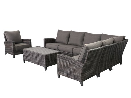 Teva Barbados 6 Piece Sectional Set with Club Chair