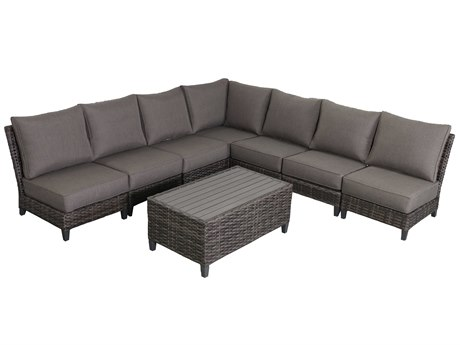 Teva Barbados 7 Piece Armless Sectional Set