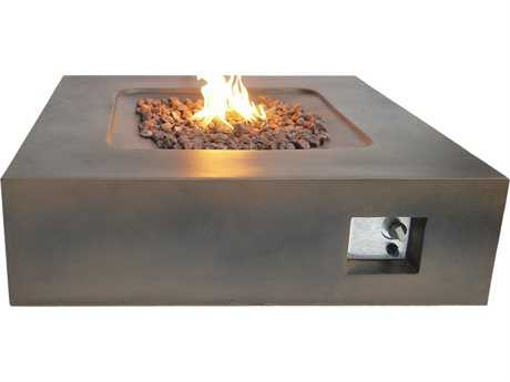 Teva Flint Square Concrete 42W x 12H Firepit in Brown