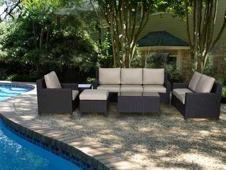 Teva Maui Wicker Conversation Lounge Set