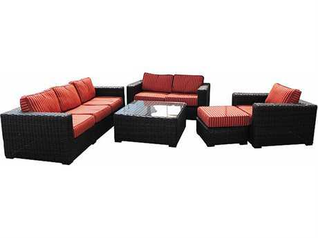 Teva Santa Monica Wicker Lounge Set