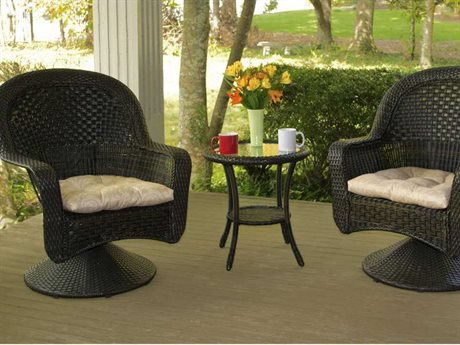 Tortuga Outdoor After Dinner Wicker Bistro Set