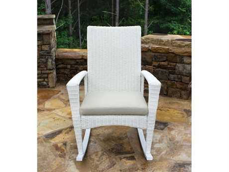 Tortuga Outdoor Bayview Wicker Cushion Rocking Lounge Chair TGBAYRMAGNOLIA
