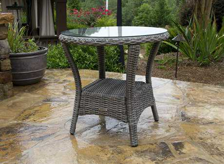 Tortuga Outdoor Bayview Wicker 24 Round Side Table