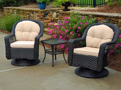 Tortuga Outdoor Biloxi Wicker 3Pc Bistro Set