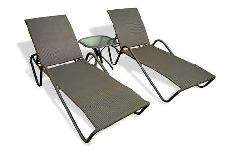 Tortuga Outdoor Fiji Aluminum Wicker Lounge Set