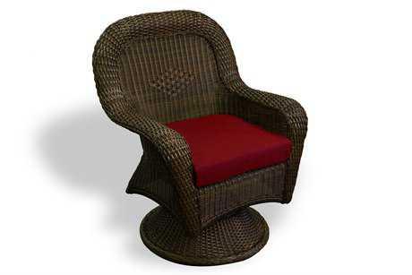 Tortuga Outdoor Lexington Wicker Cushion Swivel Rocker Dining Chair