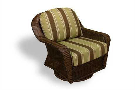 Tortuga Outdoor Sea Pines Wicker Cushion Swivel Gliding Club Chair