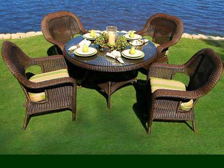 Tortuga Sea Pines Wicker 5 Piece Dining Set