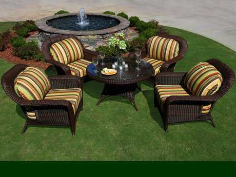 Tortuga Sea Pines Wicker 5 Piece Lounge Set