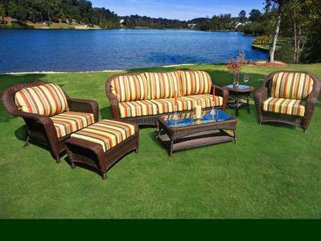 Tortuga Sea Pines Wicker 6 Piece Deep Seating Set With Sofa TGLEX651