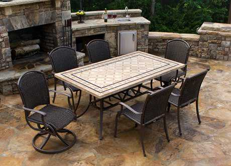 Tortuga Outdoor Marquesas Wicker 7-Piece Dining Set TGMQS7PCSWV