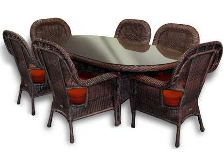 Tortuga Outdoor Sea Pines Wicker Dining Set