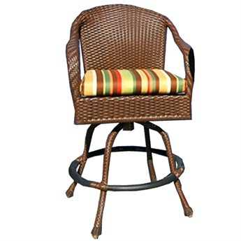 Tortuga Outdoor Sea Pines Wicker Cushion Bar Chair