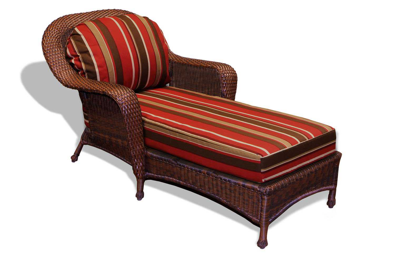Tortuga Outdoor Sea Pines Wicker Cushion Chaise Lounge