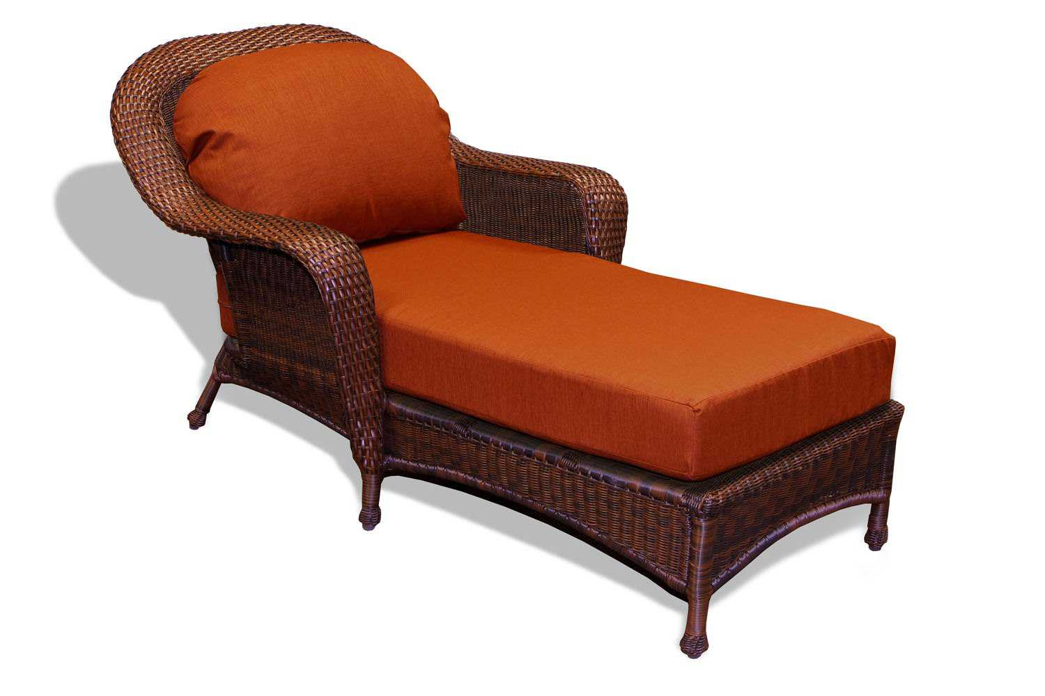 Tortuga outdoor lexington wicker cushion chaise lounge for Chaise longue cushions