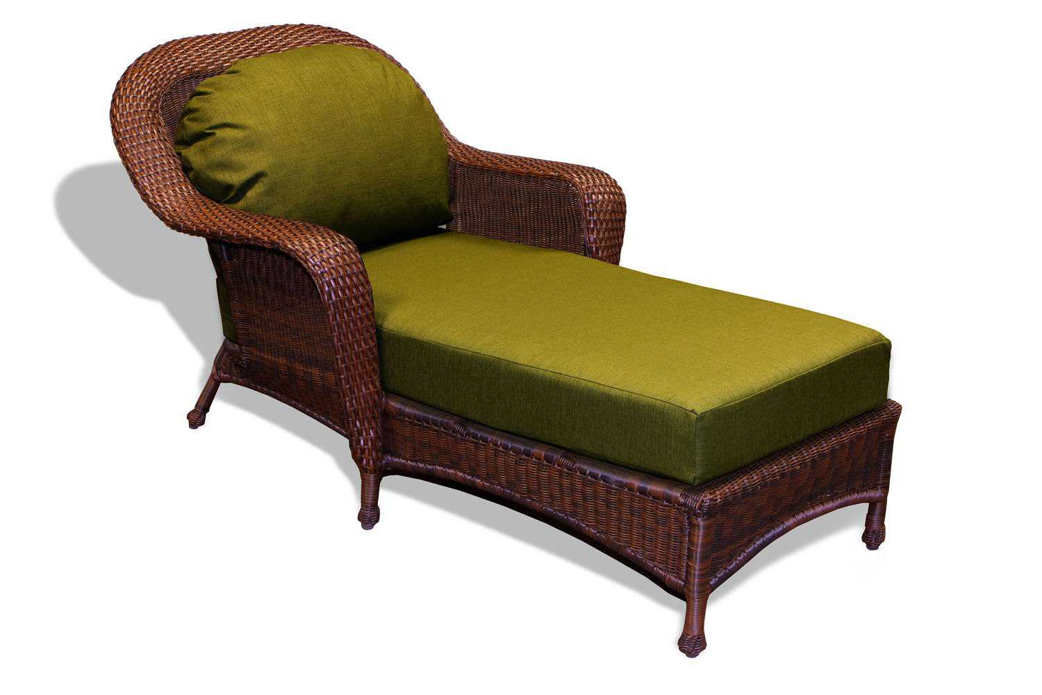 Tortuga outdoor lexington wicker cushion chaise lounge for Chaise lounge accessories
