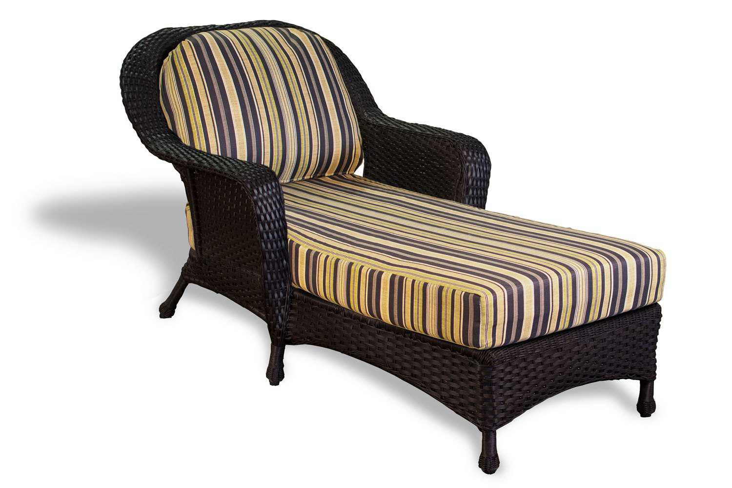 Tortuga Outdoor Sea Pines Wicker Cushion Chaise Lounge ...
