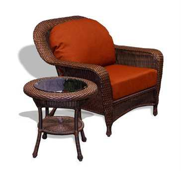 Tortuga Outdoor Lexington Wicker Cushion 2-Piece Lounge Set