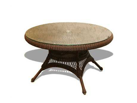 Tortuga Outdoor Sea Pines Wicker 48 Round Dining Table