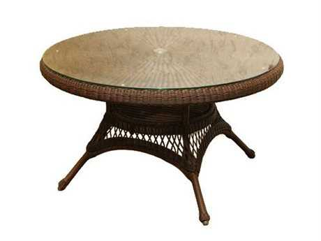 Tortuga Outdoor Sea Pines Wicker 42 Round Conversation Table PatioLiving