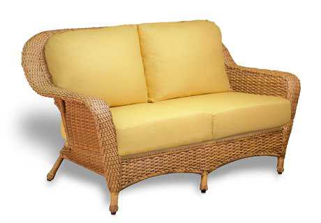 Tortuga Outdoor Sea Pines Wicker Cushion Loveseat PatioLiving