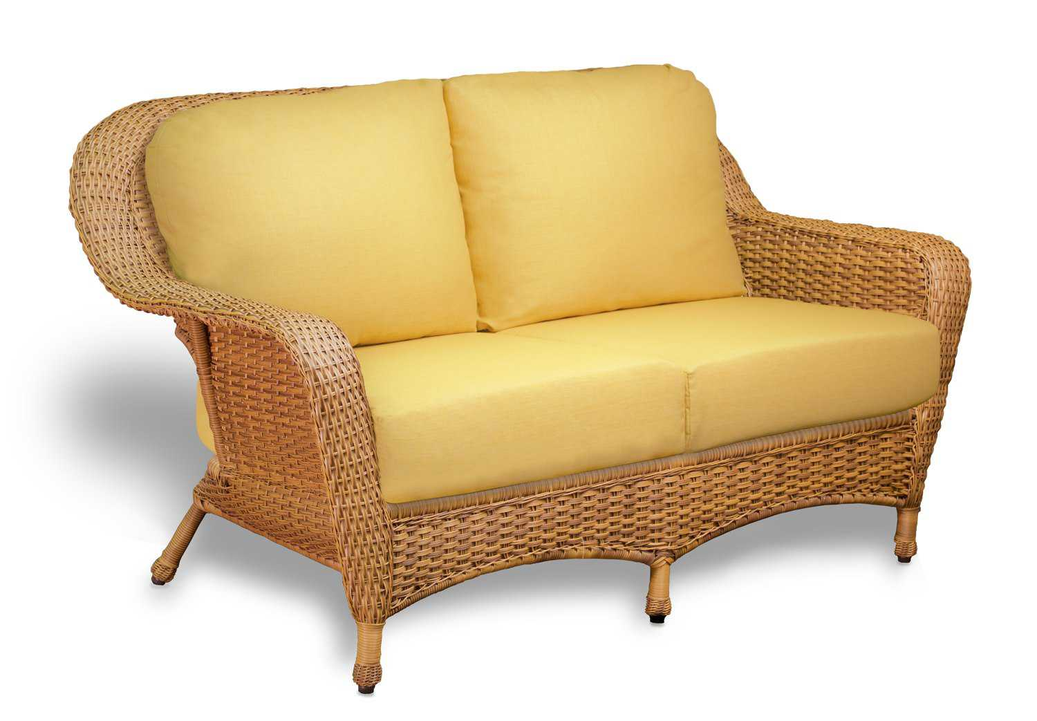 wc cushion products teak sunbrella chatsworth designs hero creek loveseat outdoor willow furniture sofa