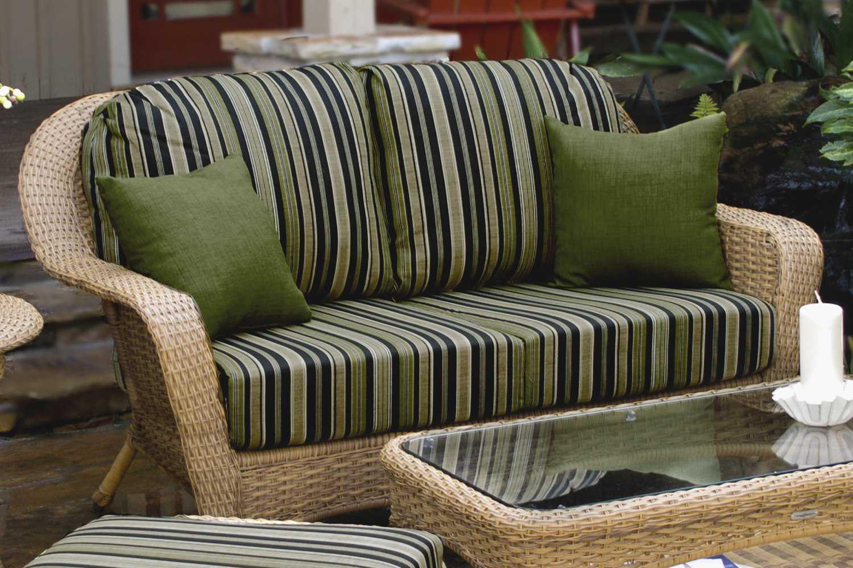 Tortuga Outdoor Sea Pines Wicker Cushion Loveseat