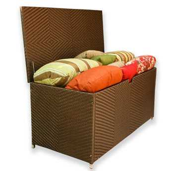 Tortuga Outdoor Sea Pines Wicker Large Storage Box PatioLiving