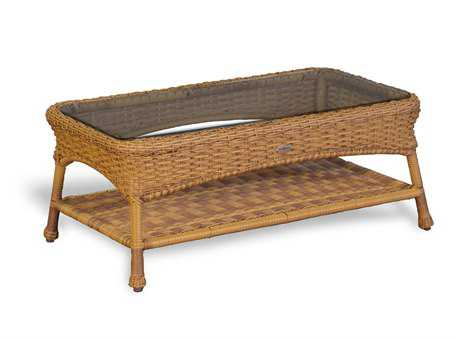 Tortuga Outdoor Sea Pines Wicker 39 x 21 Rectangular Coffee Table TGLEXLT1