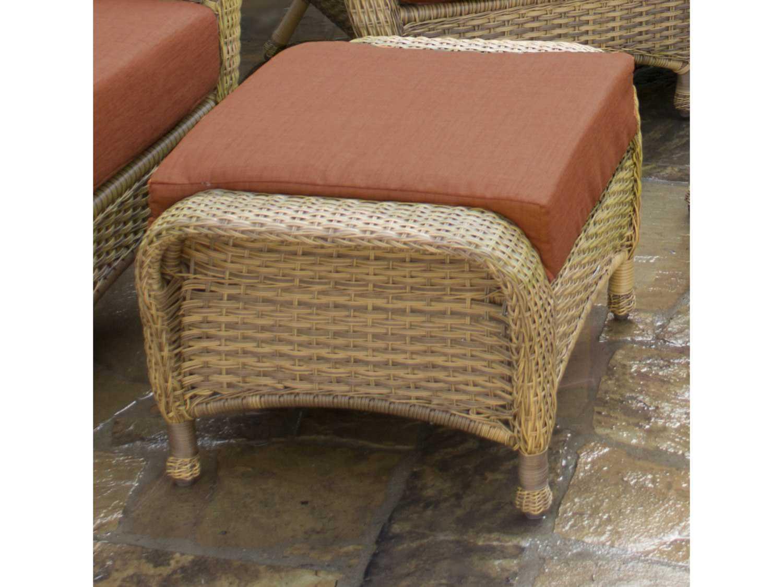 Tortuga Outdoor Sea Pines Wicker Cushion Ottoman