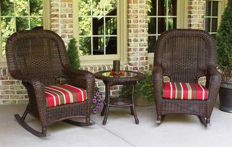 Tortuga Outdoor Sea Pines Wicker Cushion 3-Piece Lounge Set