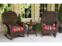 Sea Pines Wicker Cushion 3-Piece Lounge Set