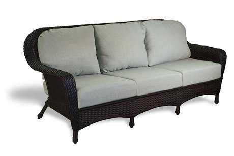 Tortuga Outdoor Sea Pines Wicker Cushion Sofa TGLEXS1