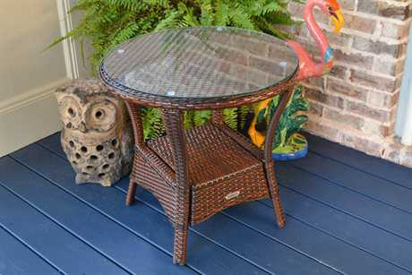 Tortuga Outdoor Sea Pines Wicker 22 Round Side Table