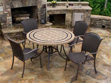 Tortuga Outdoor Marquesas Wicker 4-Piece Dining Set PatioLiving