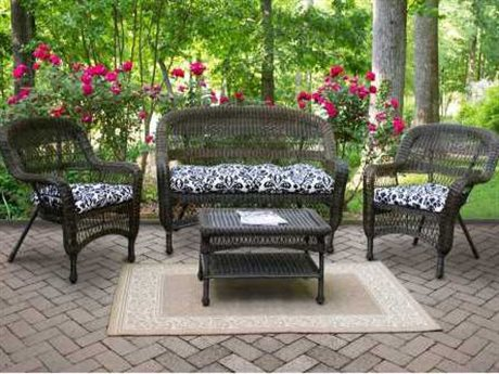 Tortuga Outdoor Portside Wicker Cushion 4-Piece Lounge Set TGPS4S