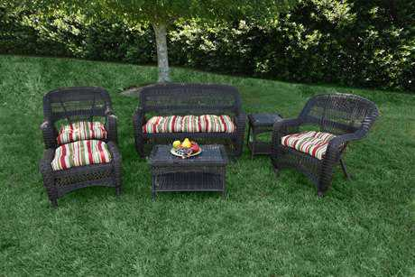 Tortuga Outdoor Portside Wicker Cushion 6-Piece Lounge Set TGPS6S