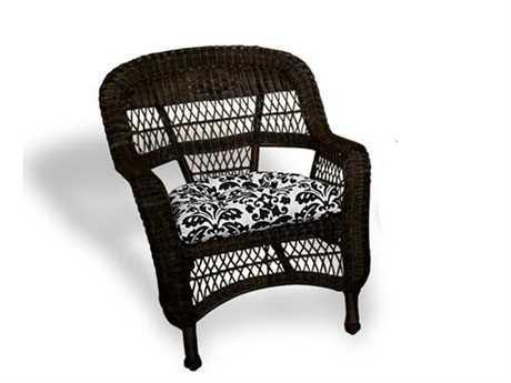 Tortuga Outdoor Portside Wicker Cushion Arm Lounge Chair