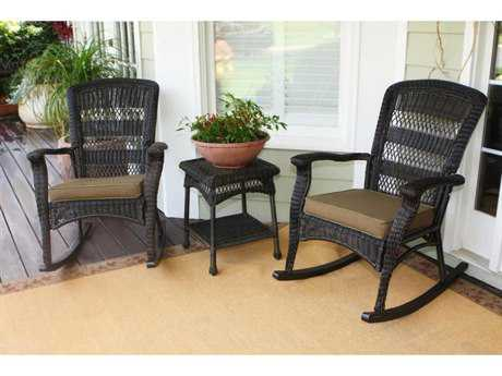 Tortuga Outdoor Portside Wicker Plantation Rocking Set