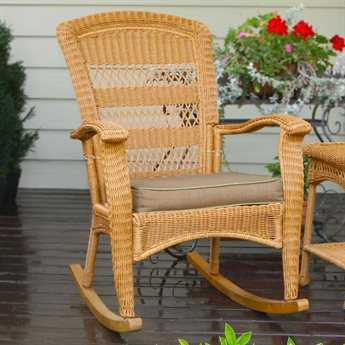 Tortuga Outdoor Portside Wicker Cushion Plantation Rocker