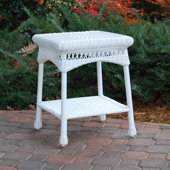 Tortuga Outdoor Portside Wicker 17 Square End Table