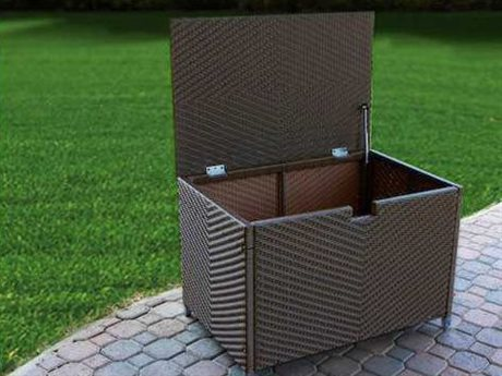 Tortuga Outdoor Stonewick  Wicker Medium Storage Box
