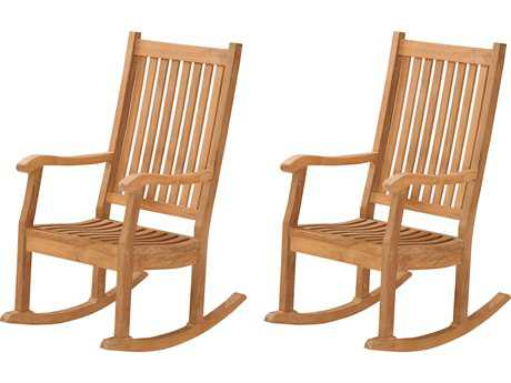 Tortuga Outdoor Jakarta Teak Conversation 2 Rocking Chair Pairs
