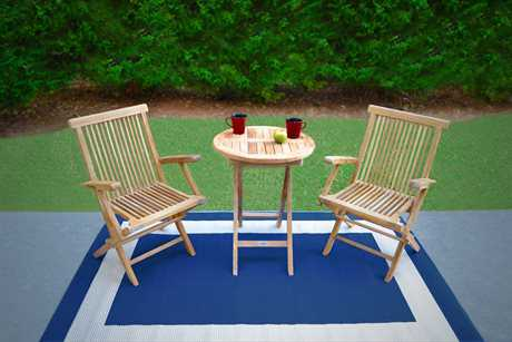 Tortuga Outdoor Jakarta Teak Bistro Patio Dining Set