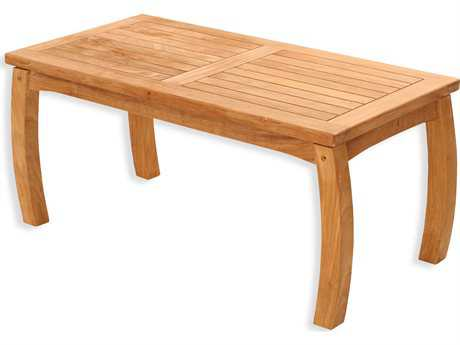 Tortuga Outdoor Jakarta Teak Traditional 40 x 20  Rectangular Coffee Table