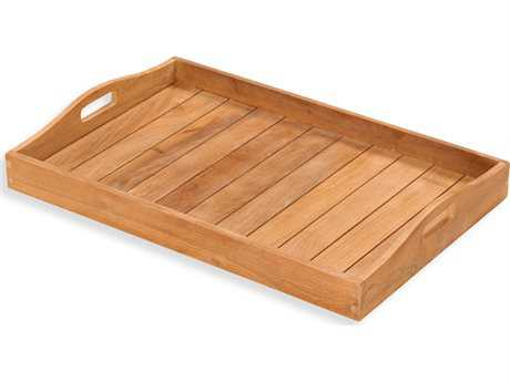 Tortuga Outdoor Jakarta Teak Serving Tray PatioLiving